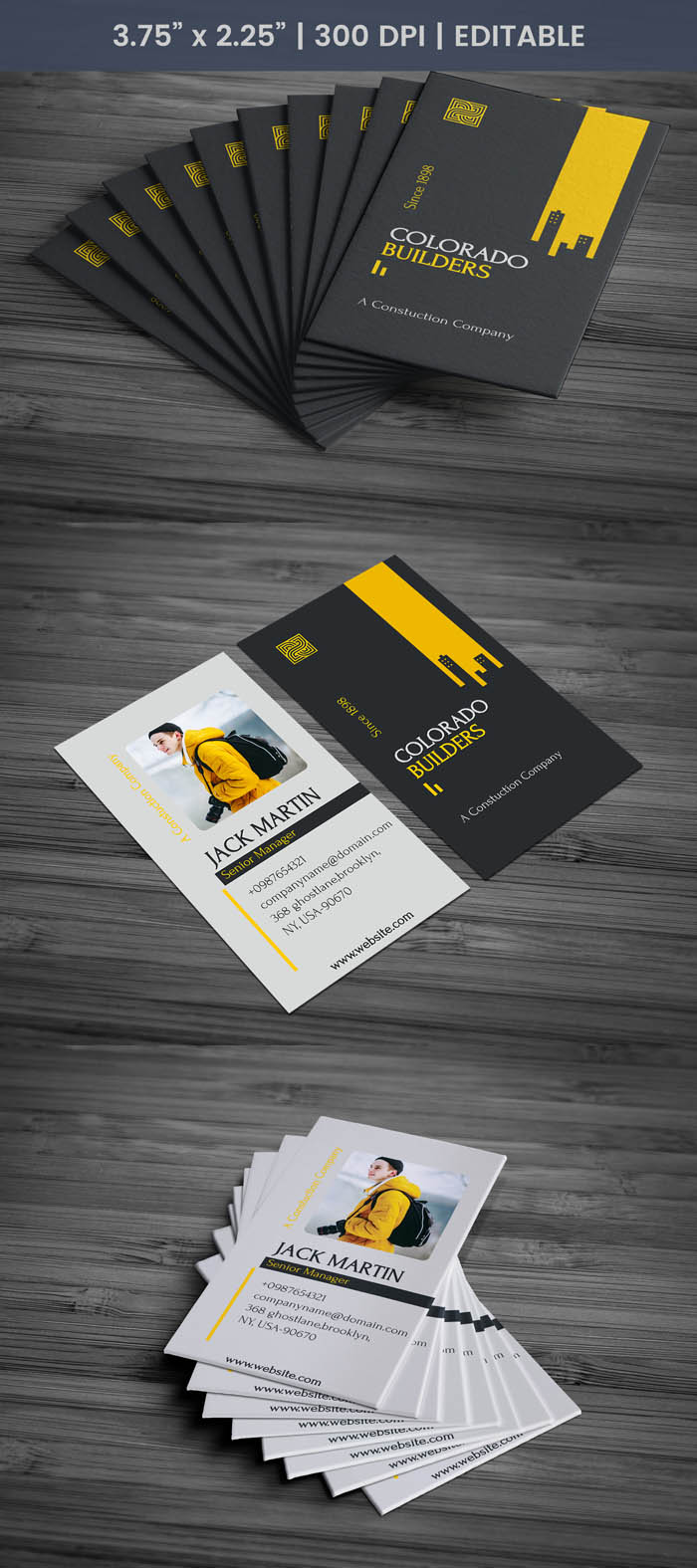 Free builder business card template builder business card full preview reheart Image collections