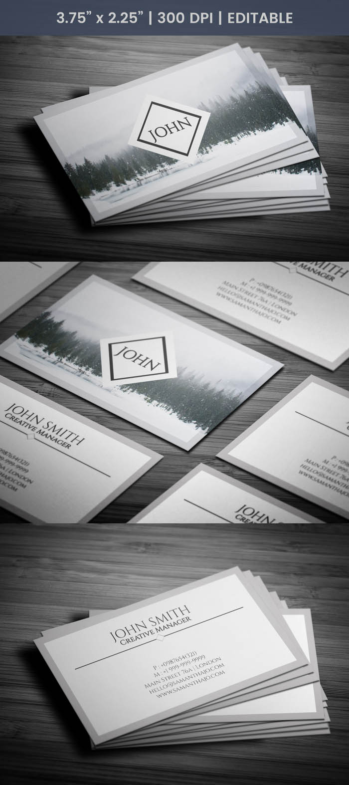 Free Clear Photography Business Card Template