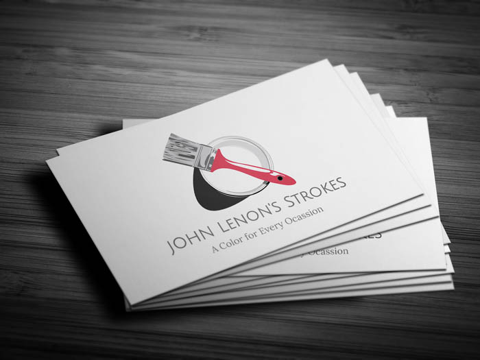 Painting Business Card - Front