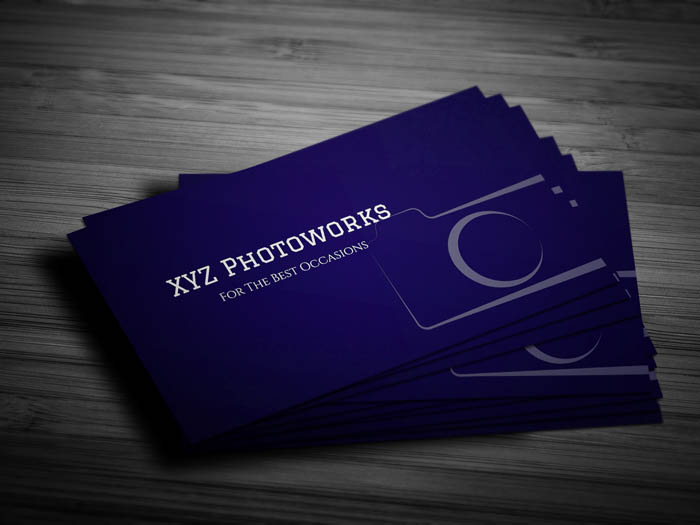 Minimal Photography Business Card - Front