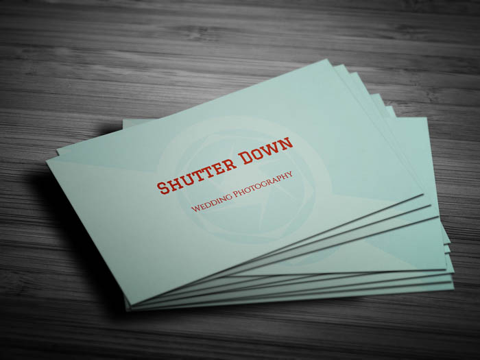 Photographer Business Card - Front