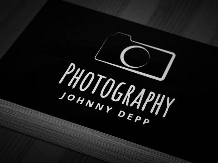 Vintage Photography Business Card - Front