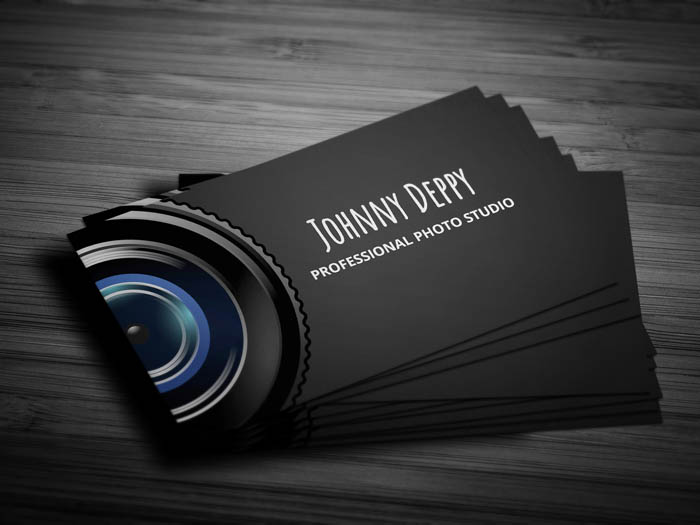 Unique Photography Business Card - Front
