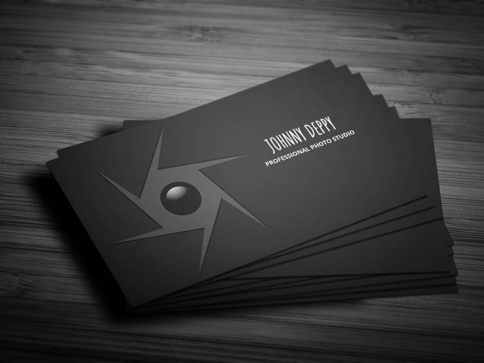 Unique Photographer Business Card - Front