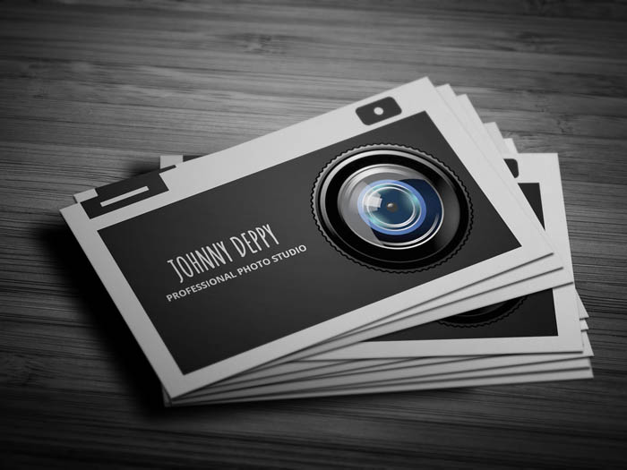 Camera Business Card - Front