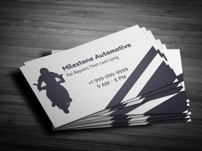 Auto Mechanic Business Card - Front