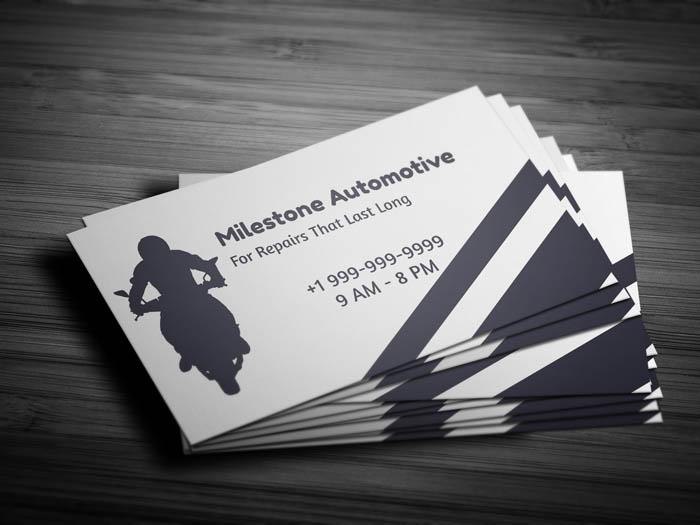 Free Auto Mechanic Business Card Template