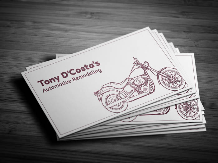 Auto Parts Business Card - Front