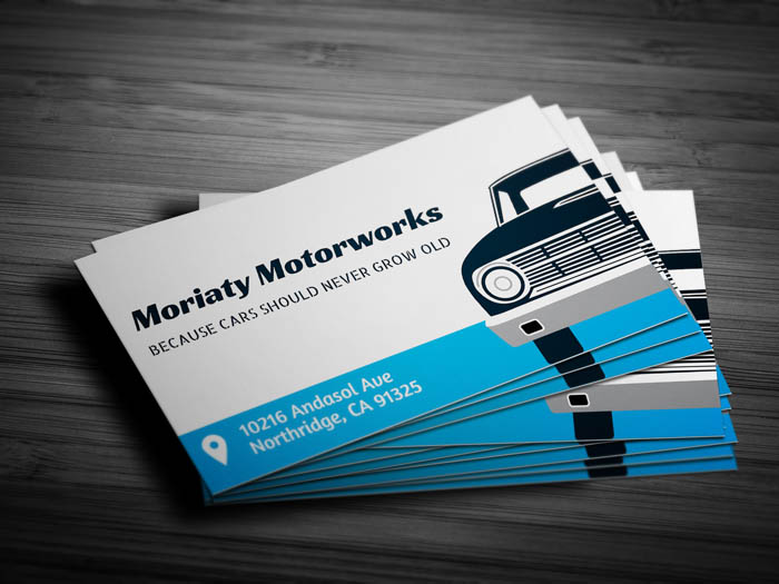 car repair business card front - Auto Repair Business Cards