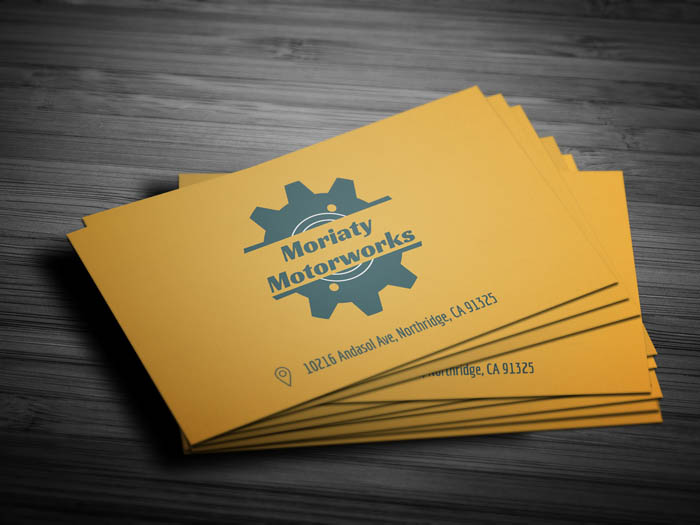 Minimal Mechanic Business Card - Front