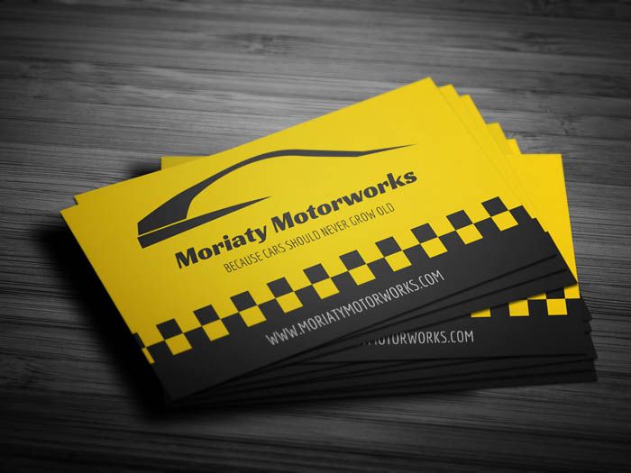 Car Business Card - Front