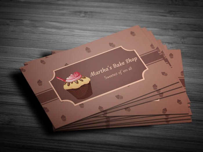 Cupcake Business Card - Front