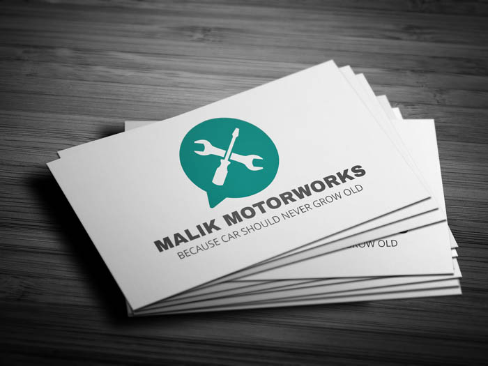 Whatsapp Themed Car Service Business Card - Front