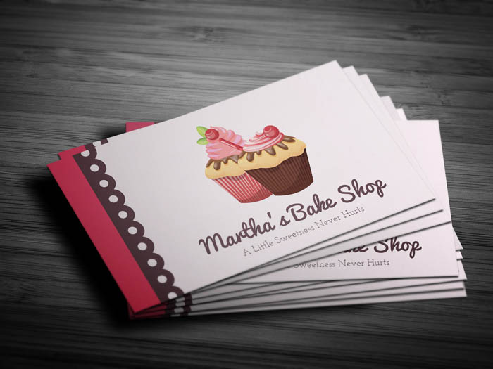 Sweets Bakery Business Card - Front