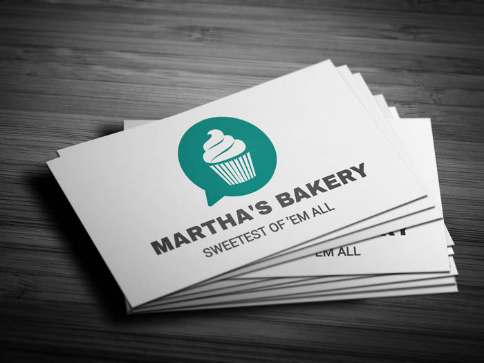 Whatsapp Themed Bakery Business Card - Front