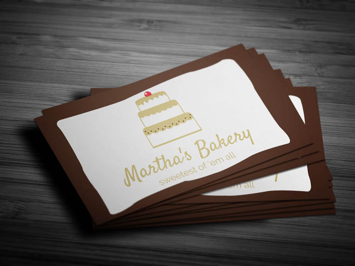 Free cake business card template cake business card front flashek Gallery