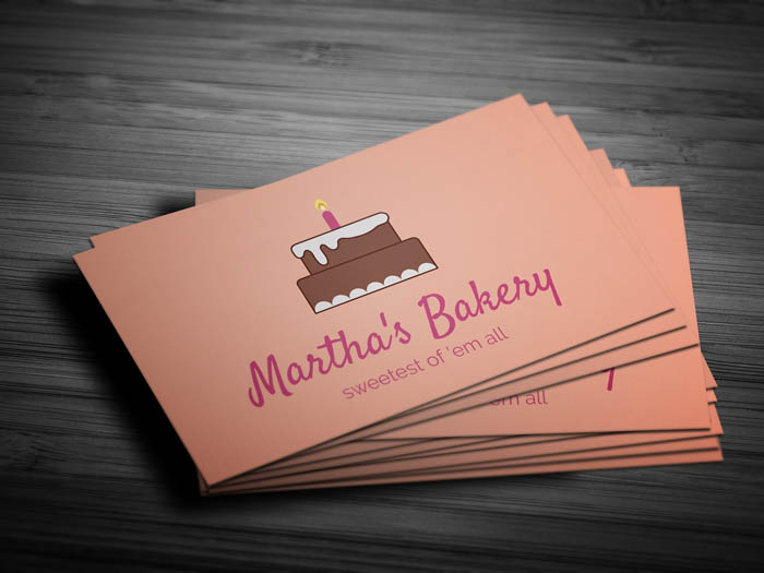 Pastry Business Card - Front