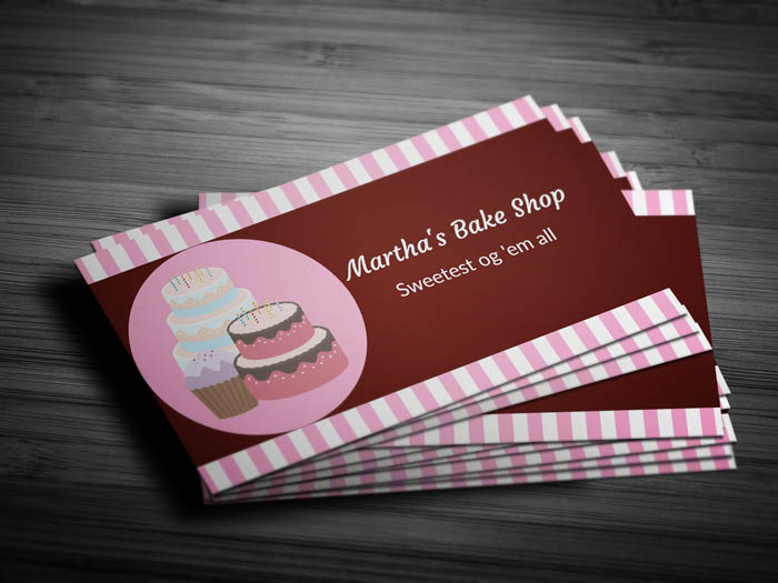 Home Bakery Business Card - Front