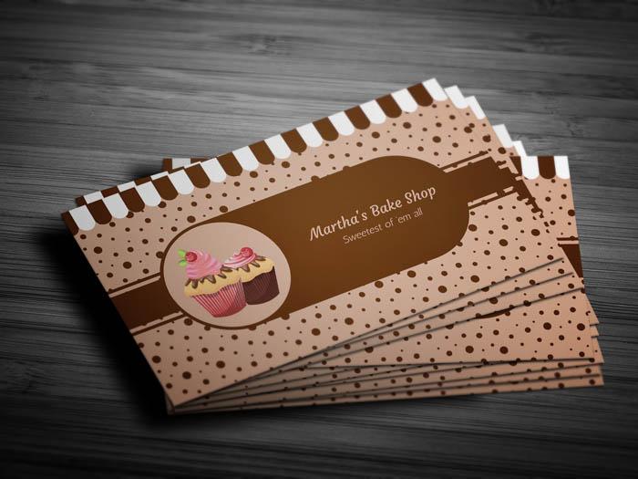 Desert Bakery Business Card - Front