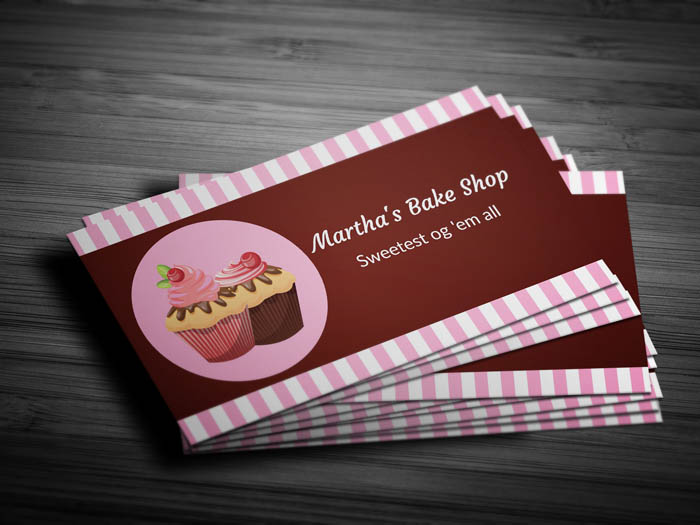 Modern Bakery Business Card - Front