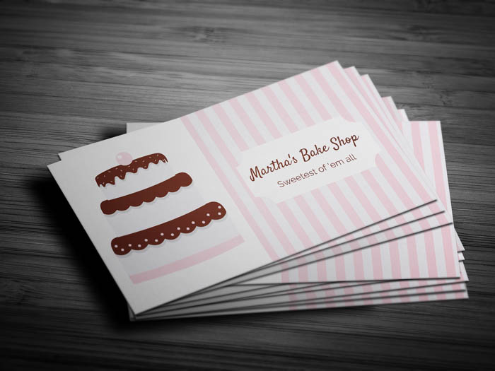 Unique Bakery Business Card - Front