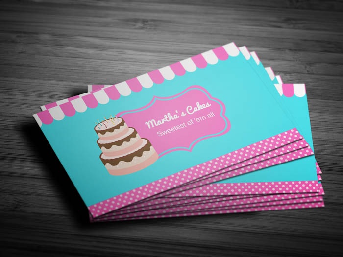 Baking Business Card - Front