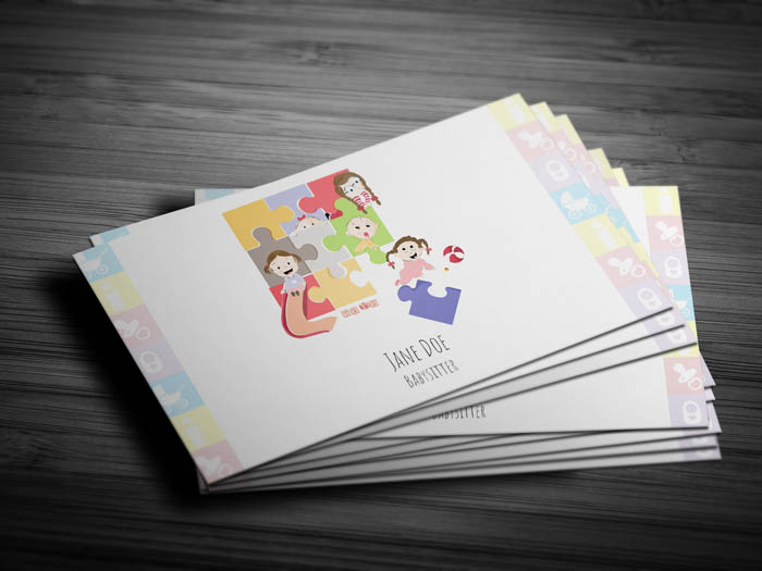 Day Care Center Business Card - Front
