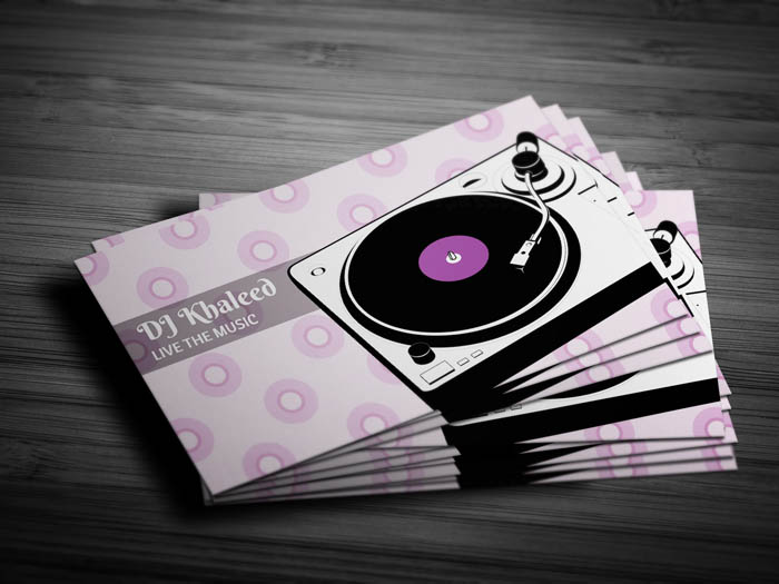 Turntable Business Card - Front