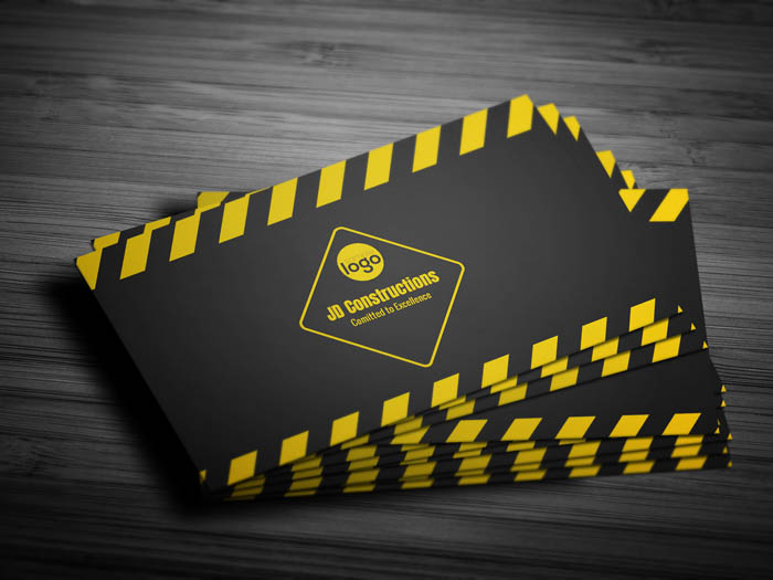 Civil Engineer Business Card - Front
