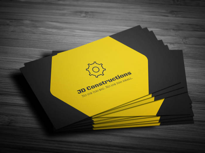 Construction Company Business Card - Front