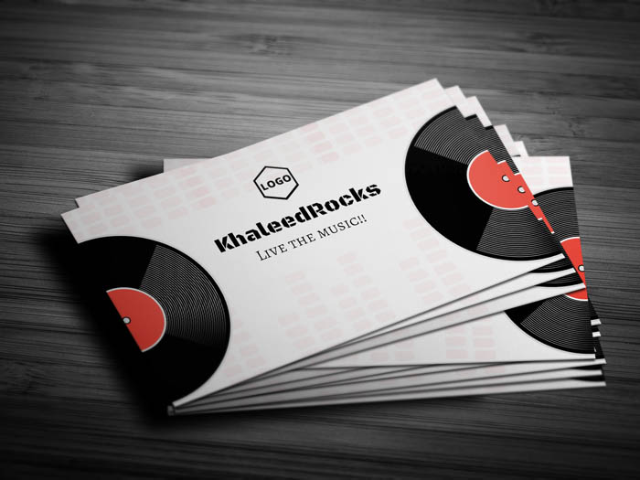 Night Club Business Card - Front