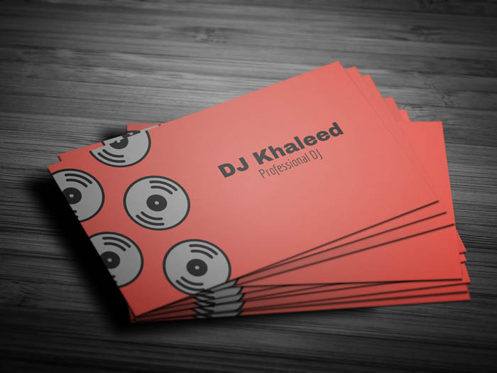 Simple Dj Business Card - Front