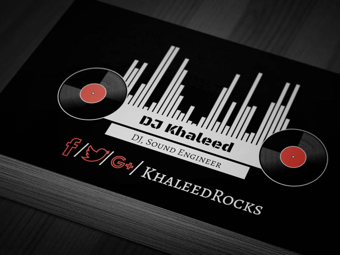 Vinyl Record Business Card - Front