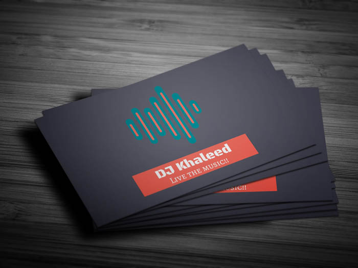 Djing Business Card - Front