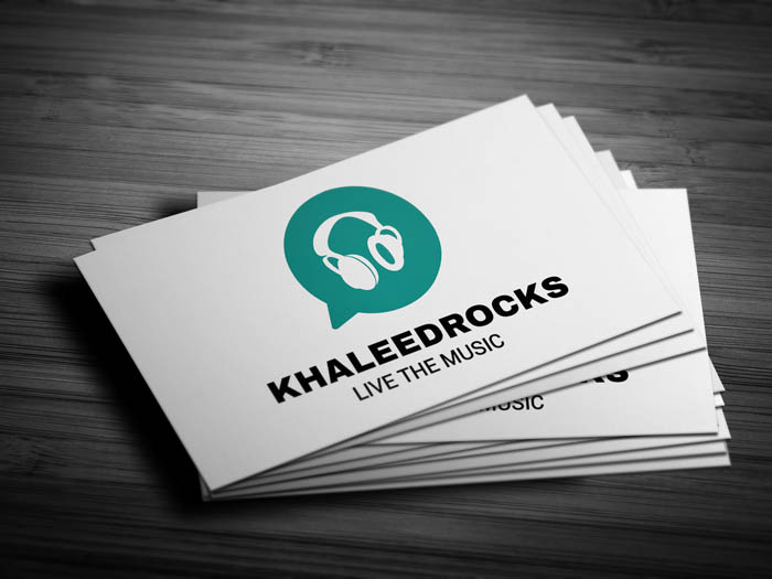 Whatsapp Themed Dj Business Card - Front