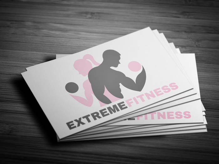 Unisex Gym Business Card - Front