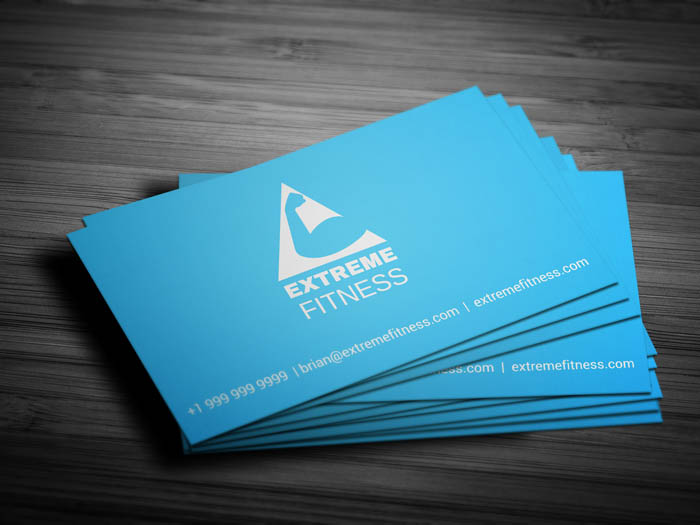 Fitness Club Membership Business Card - Front