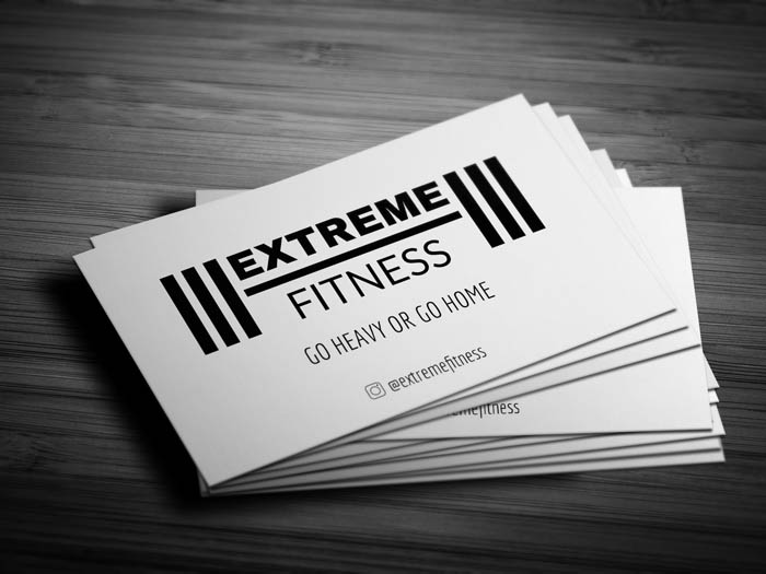 Sleek Fitness Business Card