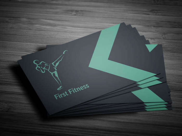Minimal Fitness Business Card - Front