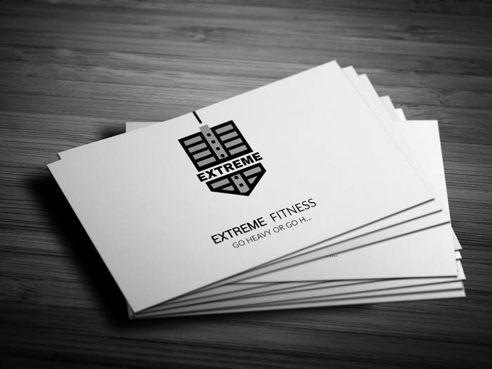Workout Business Card - Front