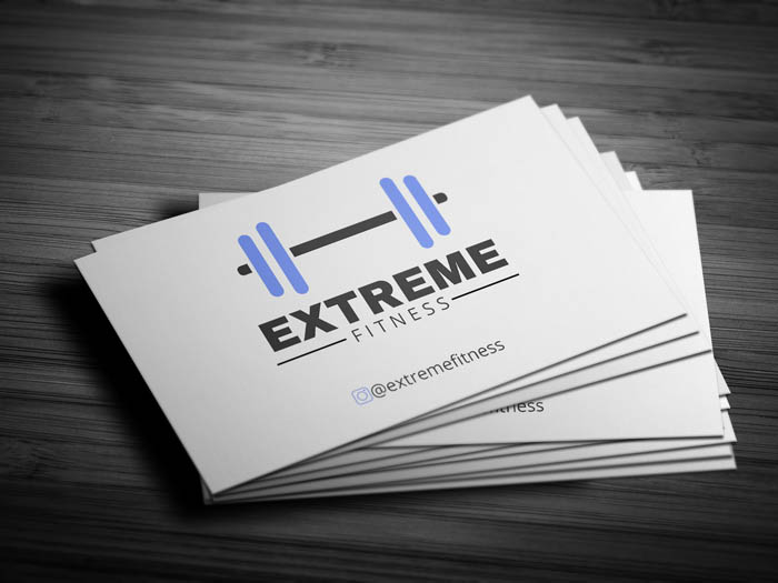 Gym Trainer Business Card - Front