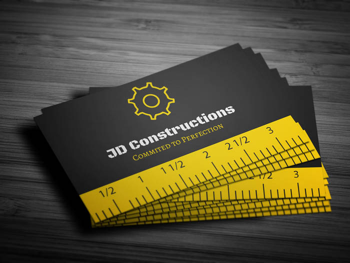 Creative Construction Business Card