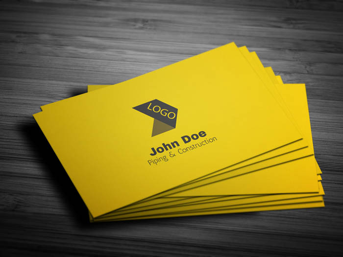 Free cool construction business card template cool construction business card front colourmoves