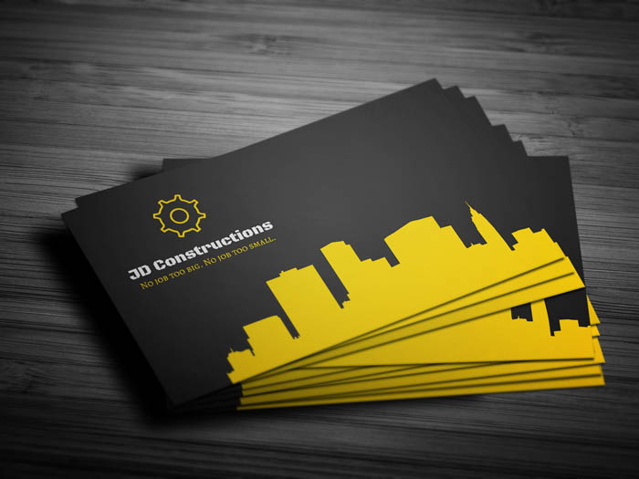 Constructor Business Card - Front