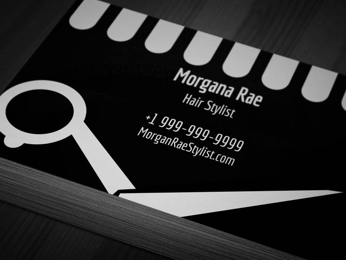 Hairdresser With Appointment Business Card - Front