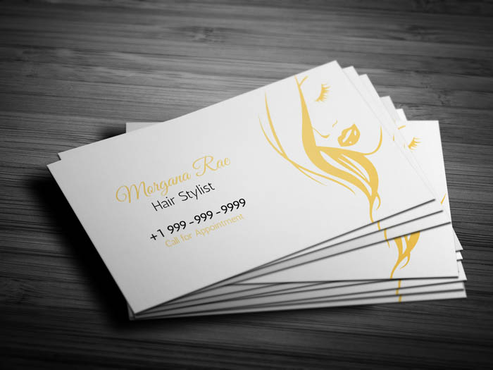 Free female hairstylist business card template female hairstylist business card front wajeb Choice Image