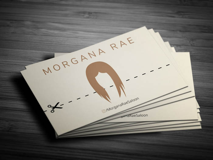 Female Hairstylist Business Card - Front