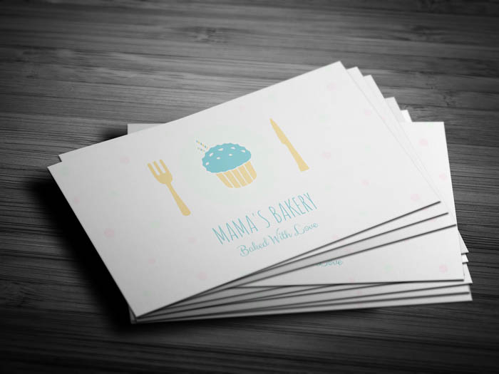 Cute Bakery Business Card - Front