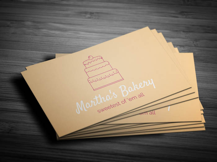 Minimal Bakery Business Card - Front