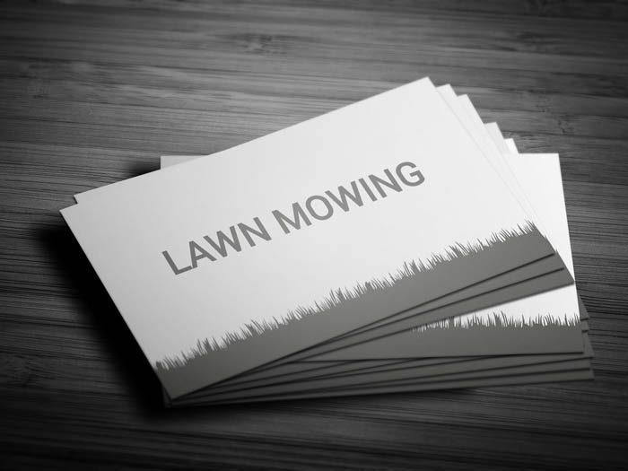 Lawn Mower Business Card - Front